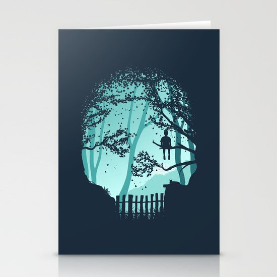 Don't Look Back In Anger Stationery Cards