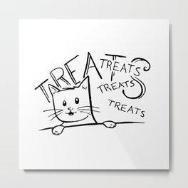 Cat-Lepathy Metal Print