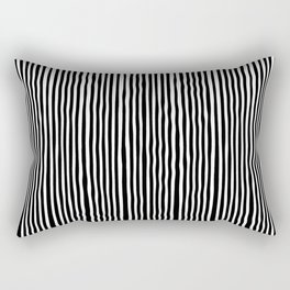 Op-Art Black and White Tribal Wiggle Stripe Rectangular Pillow