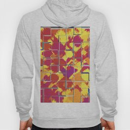 Squares Red & Yellow Abstract Hoody