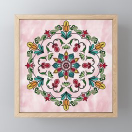 Botanical Mandala Framed Mini Art Print