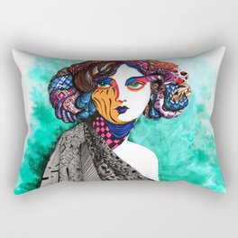 """""""When the muse come to visit"""" Rectangular Pillow"""