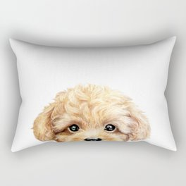 Toy poodle Dog illustration original painting print Rectangular Pillow