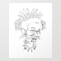 Diamonds are a queen's best friend Art Print