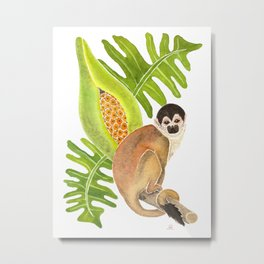 Squirrel Monkey for Climate Action Metal Print