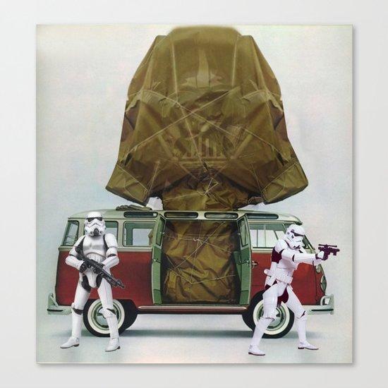 Vader Under Wraps Canvas Print