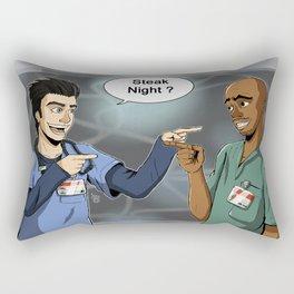 Steak Night of J.D. and Turk (Scrubs) Rectangular Pillow