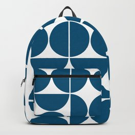 Mid Century Modern Geometric 04 Blue Backpack