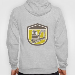 Mechanical Digger Excavator Shield Retro Hoody