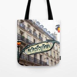 Metropolitain in Paris Tote Bag
