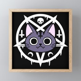 Black Meowgic 01 Framed Mini Art Print