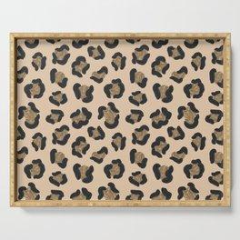 Leopard Print Pattern Serving Tray