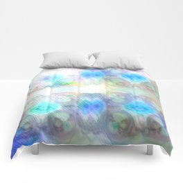 Brightly So Devils Pattern 1 - Newer Rainy Pastel Beginnings Comforters