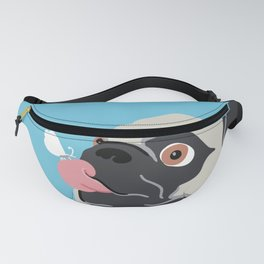 Pug Butterfly Flat Graphic Fanny Pack