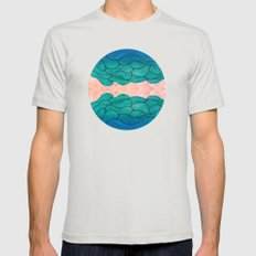 Ocean Flow X-LARGE Silver Mens Fitted Tee