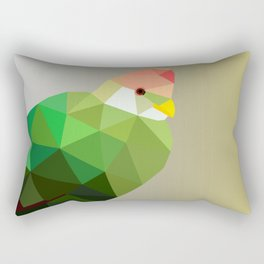 RED CRESTED TURACO LOW POLY ART Rectangular Pillow