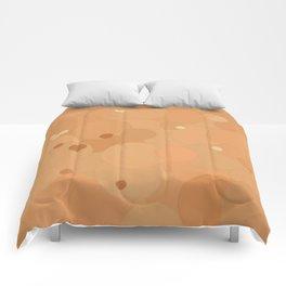 Peach Cobbler Bubble Dot Color Accent Comforters