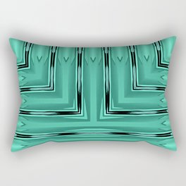 Art Deco Green Spear Pattern Rectangular Pillow