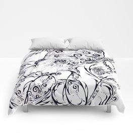 Calligraphy Octopus Comforters
