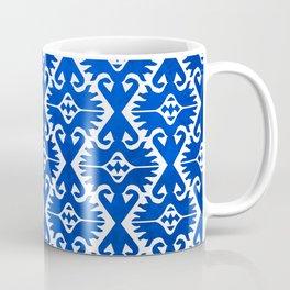 Blue Ikat Pattern Coffee Mug