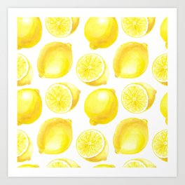 Lemons pattern design Art Print