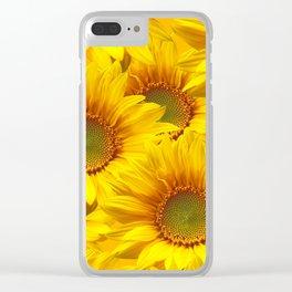Yellow Mellow Sunflower Bouquet #decor #society6 #buyart Clear iPhone Case
