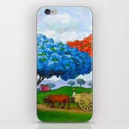 Flamboyán Azul iPhone Skin
