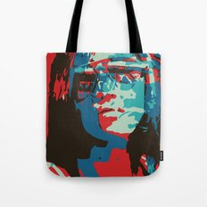 Portrait in Red Tote Bag
