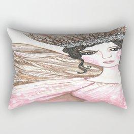 Winter Rose Rectangular Pillow