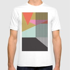Farbe//One White Mens Fitted Tee MEDIUM