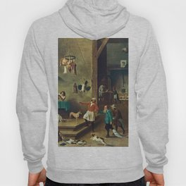 The Kitchen by David Teniers the Younger Hoody