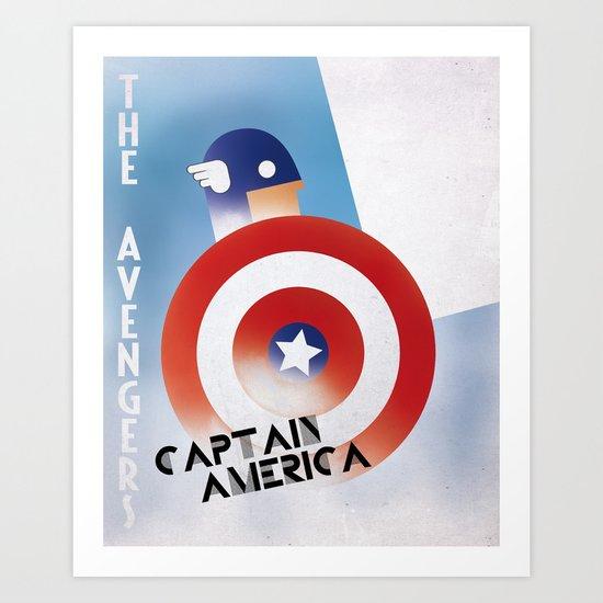 CASSANDRE SPIRIT - Captain America Art Print