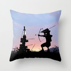 Green Arrow Kid Throw Pillow