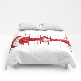 City silhouette Istanbul Comforters