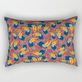 Tropical Toucan Jungle Rectangular Pillow