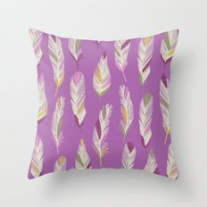 Tropical Feathers Throw Pillow
