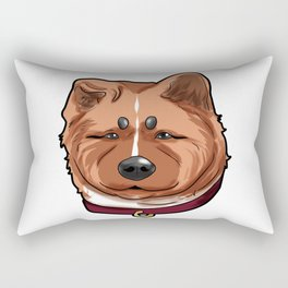 Akita Dog Doggie Puppy Present Comic Cartoon Rectangular Pillow