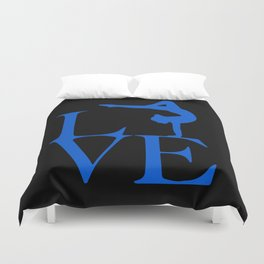 Gymnast Love Duvet Cover