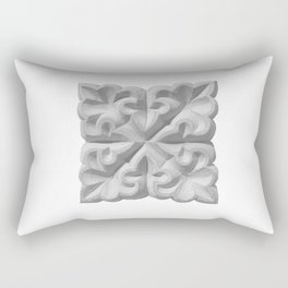 Aisha Bibi carved terracota tile with floral geometric ornament Rectangular Pillow