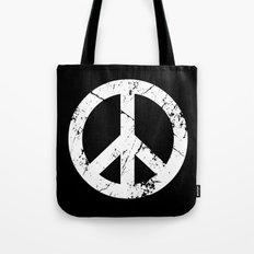 Peace Grunge Symbol Tote Bag