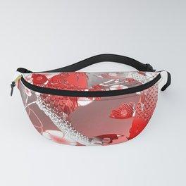 Japanese Koi Carp Nishikigoi Fish Cherry Blossom Fanny Pack