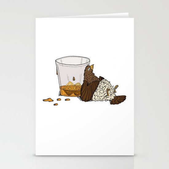 Thirsty Grouse - Colored with White Background Stationery Cards