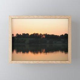 Summer sunset over the lake   Landscape photography Framed Mini Art Print
