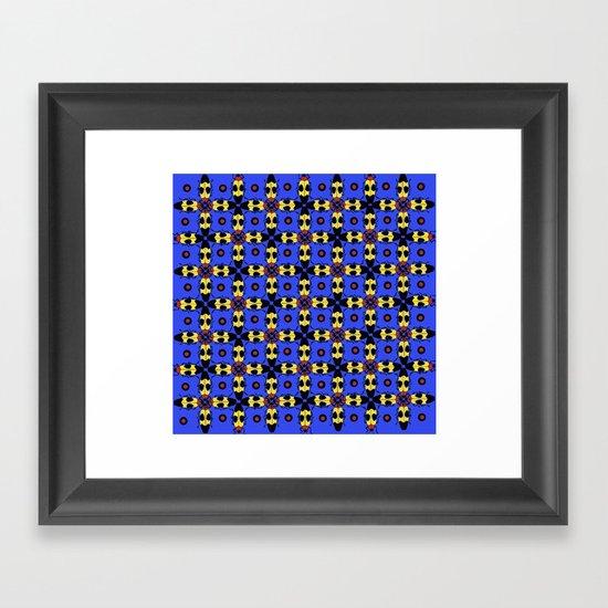 Beetles Pattern Framed Art Print