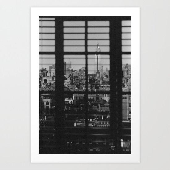 Through The Blinds Art Print
