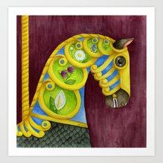 Carousel Horse - Neptune Art Print