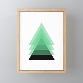 Abstract #16 Green and Black Framed Mini Art Print