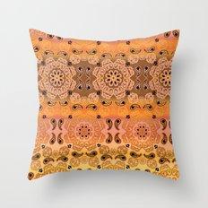 Golden Haze Bandana Throw Pillow