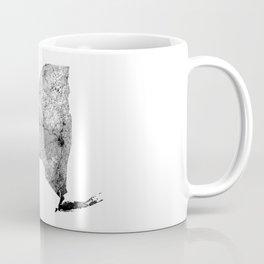 New York State White Map Coffee Mug