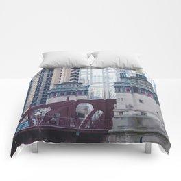 Chicago River Walk Comforters